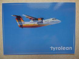 DASH 8  TYROLEAN  OE-LLR   AIRLINE ISSUE / CARTE COMPAGNIE - 1946-....: Ere Moderne