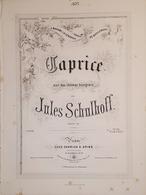 Spartiti - Caprice Pour Piano Par J. Schulhoff - Vieux Papiers