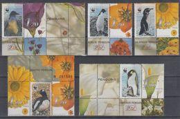 ISRAEL 2001 PERSONAL STAMP BIRDS PENGUIN WWF - Pingouins & Manchots