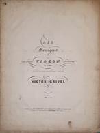Spartiti - Air Montagnard Per Violon Accom. De Piano Par V. Grivel - Vieux Papiers