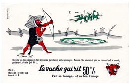 Buvard  La Vache Qui Rit, Fromageries Bel. Série Travaux D'Hercule N°8 Les Oiseaux Du Lac Stymphale. - Carte Assorbenti