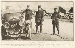 Roland Garros Et Beau Plan D'automobile Berliet 1915 - Vieux Papiers