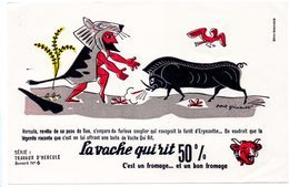 Buvard  La Vache Qui Rit, Fromageries Bel. Série Travaux D'Hercule N°6 Le Sanglier De La Forêt D'Erymanthe. - Lebensmittel
