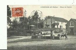 Lyoffans  Place Du Centre 1911 Attelage   Vache  Animee - France