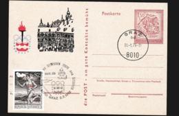 Austria Postal Stationary 1976 Innsbruck Olympic Fire - Torch Relay Graz Route Sud (G114-38) - Inverno1976: Innsbruck