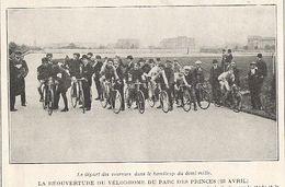 PARIS Réouverture Du Vélodrome Du Parc Des Princes Le 23 Avril 1916 - Cycling