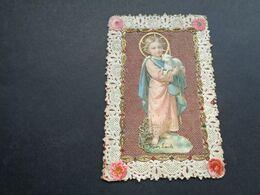 Devotieprentje ( 2193 )  Image Pieuse Religieuse Dentellée Avec Dentelle - Prentje Met Kant - Santini