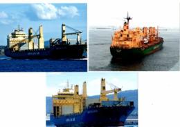 3 Real Photo's - Bulk Carriers - Austral Asia Line - Cape York - Cape Delgado - Cape Delfaro - Barche