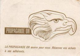 V8CP  Propagande Or Avis Passage Bijouterie R. Barrat & Fils 13 Rue Volney à Angers - Visiting Cards