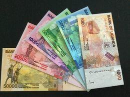 UGANDA SET 1000 2000 5000 10000 20000 50000 SHILLINGS BANKNOTES 2010 UNC - Ouganda