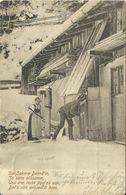 AK Gebirgsleben / Emanzipation - Frau Bedroht Mann Mit Heugabel - 1903 #12 - Costumes