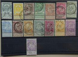 BELGIE 1893   Nr. 53 - 67    (3)    Gestempeld   CW 140,00 - 1893-1900 Thin Beard