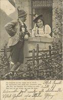 AK Gebirgsleben Mann + Frau In Tracht  Beim Fensterln - 1903 #13 - Costumes