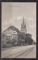 """Dt.Reich 1915 Fotokarte """" Ulm A.D. """" Bei Der Kath. Garnisonskirche """", Gelaufen - Ulm"""