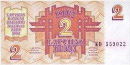 Latvia 2 Rublis  1992  Pick 36 UNC - Letland