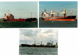 3 Real Photo's - General Cargo - Some Scrapped - Risnes - Brunto - Vigsnes - Bateaux