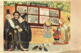 DC2904 - WW2 Militaria Propaganda Ak Germany - Der Stürmer Judaica Juden Deutsche Kinder REPRO - Guerre 1939-45