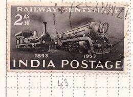 PIA - INDIA  - 1953 : Centenario Delle Ferrovie  - (Yv 43) - Usati