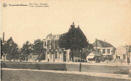 Belgique Termonde Ruines Rue Franz Courtens Guerre 1914 1918 - Dendermonde