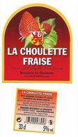 ETIQUETTE BIERE BRASSERIE LA CHOULETTE - HORDAIN /  AVEC CONTRE ETIQUETTE - Beer