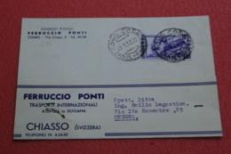 Ticino Chiasso Trasporti Ferruccio Ponti 1952 - TI Tessin