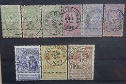 BELGIE 1894      Nr. 68 - 70  /  68 A - 70 A / 71 - 73     (2)   Gestempeld   CW  20,00 - 1894-1896 Exhibitions