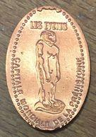 24 LES EYZIES CAPITALE MONDIALE DE LA PRÉHISTOIRE PIÈCE ÉCRASÉE ELONGATED COIN TOURISTIQUE MEDALS TOKENS PIÈCE MONNAIE - Souvenirmunten (elongated Coins)