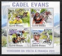 GUINEE BISSAU Feuillet  N° 3985/88  * *  ( Cote 19e )  Cyclisme Cadel Evans - Cycling