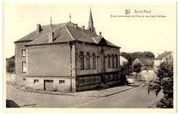BELGIQUE VIRTON - SAINT-MARD - Rue Léon Colleaux : Ecole Communale De Filles - Editeur: Jean-Jacques, Saint Mard - Virton