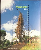 Vanuatu 2003 Pentecost Island Land Diving Minisheet MNH - Vanuatu (1980-...)