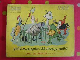 Perlin Et Pinpin Les Joyeux Nains Chez Les Abeilles. Cuvillier. Fleurette N° 103. Fleurus 1954 - Livres, BD, Revues