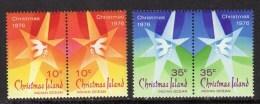 CHRISTMAS ISLAND - 1976 CHRISTMAS SET (4V) FINE MNH ** SG63-66 - Christmas Island