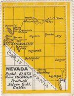 VIGNETTE NEVADA CALIFORNIA   / R 253 - Commemorative Labels