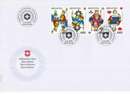 FDC, 1695-1698, 6. September 2018 - Sondermarken Schweizer Jass / Timbres Speciaux Swiss Jass - FDC