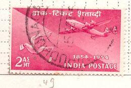 PIA - INDIA  - 1954 : Centenario Del Francobollo - Trasporti Con La Posta Aerea - (Yv 49) - Usati