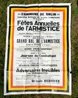 GHLIN - Affiche 1947 Fêtes Annuelles De L'Armistice - Guerre 14-18 Et 40-45 - Fédération Nationale Anciens Combattants - 1914-18