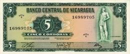 Nicaragua 5 Cordobas 1972 Pick 122 UNC - Nicaragua