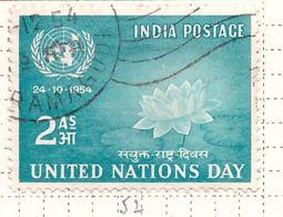PIA - INDIA  - 1954 : Giornata Delle Nazioni Unite - (Yv 52) - Usati