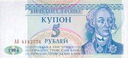 Transnistria  5 Ruble 1994 Pick 17 UNC - Mongolia