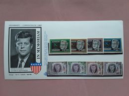 URUGUAY + GUINEA - Cartoncino Ricordo Kennedy - Con Francobolli + Spese Postali - Uruguay