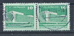 DDR Mi. 2484 V Waagerechtes Paar Gest. Berlin Palast Der Republik - Used Stamps