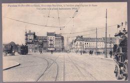CPA - Bruxelles - Paroisse St. Rémi Molenbeek - à L'arrière Plan Eglise St. Rémi Vue De Sainctelette - Tram - 1914 - Molenbeek-St-Jean - St-Jans-Molenbeek