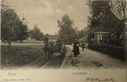 Peize (Dr.) Schoolstraat - SCHAAF PLEKJES!! 1904 Met KR PEIZE - Sonstige