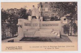 CPA - Bruxelles -  Molenbeek Saint Jean - La Paroisse Saint Rémi à Bruxelles-Maritime - Le Monument Aux Héros (1914-18) - Molenbeek-St-Jean - St-Jans-Molenbeek