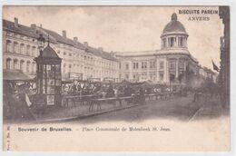 CPA - Bruxelles -  Molenbeek Saint Jean - Place Communale De Molenbeek Saint Jean - Série 1 N° 30 - Biscuits Parein - Molenbeek-St-Jean - St-Jans-Molenbeek