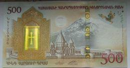 Armenia Arménie Armenien 2018 NEW Banknote - 500 Dram UNC Hybrid Technology Noy's Ark - Armenia