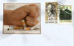 Campagne Anti-tabac De San Marino.  Belle Lettre San Marino - Drugs