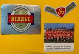 15470 - Bière Sans Alcool Birell Sponsor De L'Equipe Suisse Olympique De Football - Beer