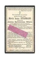 DD 124. MARIA ANNA HULSMANS  Wed. B. Willems - °ZONHOVEN 1837 En Aldaar + 1903 - Devotion Images