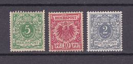 Deutsches Reich - 1889/1900 - Michel Nr. 46/47 + 52  - Ungebr. O. Gummi - Germany